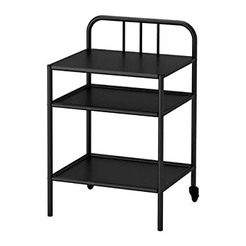 Amazon.com: IKEA Mesita de noche, color negro 228.8211.226 ...