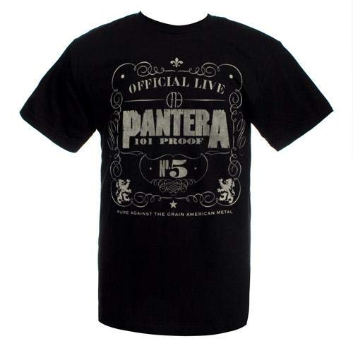 Bravado Men's Pantera 101 Proof T Shirt, Black, Small - Pantera Rock Music Band