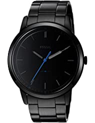Fossil Mens FS5308 The Minimalist Three-Hand Black Stainless Steel Watch
