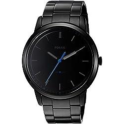 Fossil Men's FS5308 The Minimalist Three-Hand Black Stainless Steel Watch