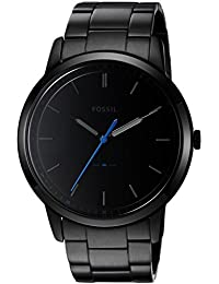 Fossil Men's FS5308 The Minimalist Three-Hand Black Stainless Steel Watch