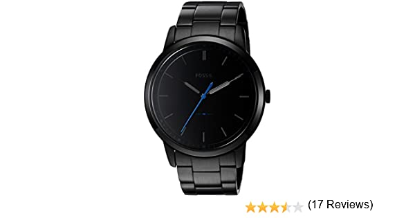be54f9914 Fossil Men's FS5308 The Minimalist Three-Hand Black Stainless Steel Watch:  Fossil: Amazon.ca: Watches
