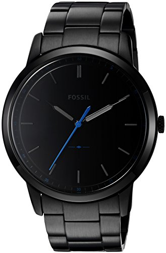 Fossil Men's The Minimalist Quartz Stainless Steel Dress Watch, Color: Black (Model: FS5308) - Fossil Mens Brown Leather