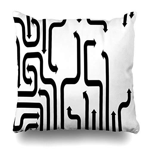Kutita Decorativepillows Covers 20 x 20 inch Throw Pillow Covers,Cursor Arrow Sign Pattern Double-Sided Decorative Home Decor Pillowcase Sofa Bedroom Car