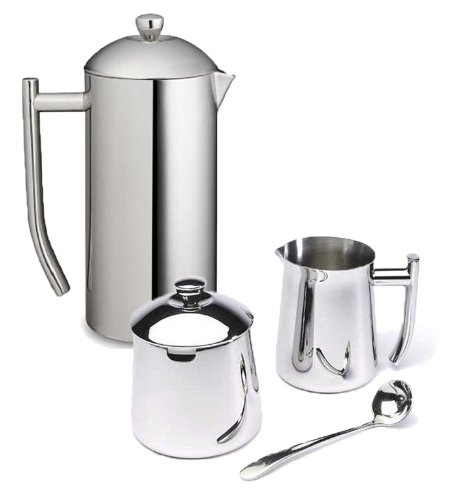 Frieling-Ultimo-36-Oz-Stainless-Steel-French-Press-Cream-Sugar-Bowl-Gift-Set