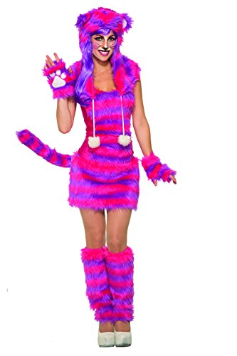 Forum Novelties Women's Cheshire Cat Deluxe Costume with Corset Top, Pink/Purple, STD