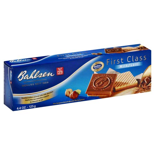 Bahlsen First Class Milk Chocolate Cookies 4.4 OZ (Pack of 2)