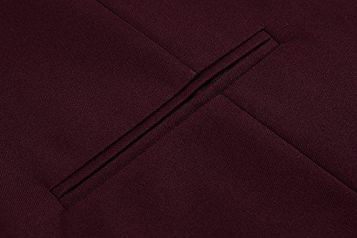 xxl Manche Homme De Gilet Veste Rouge Costume S Taille Business Sans Vin Coofandy Mariage PZBfw