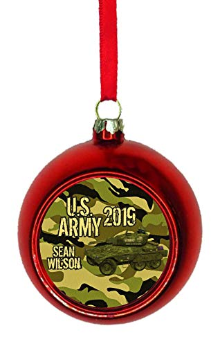 Jacks Outlet US Army 2019 Ornaments You Can Personalize Red Bauble Christmas Ornament Ball Tree Decoration - Customize Yours Now!