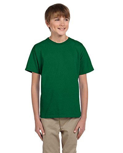 Fruit of the Loom Youth 100% Heavy Cotton HD T-Shirt, XS, Clover