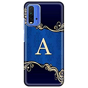 Amazon Brand – Solimo Designer Blue Pattern Alphabet-A 3D Printed Hard Back Case Mobile Cover for Xiaomi Redmi 9 Power