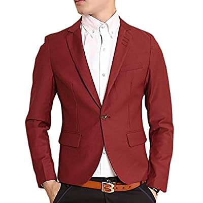 Cheap Papijam Men's Lapel Skinny One Button Casual Sport Blazer Coat Jacket supplier