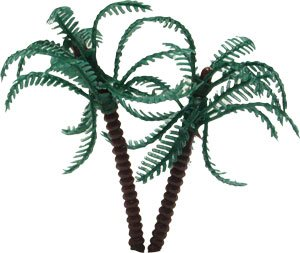 Bag of 12 ~ Palm Tree Picks ~ Cake / Cupcake (Palm Tree Party Picks)