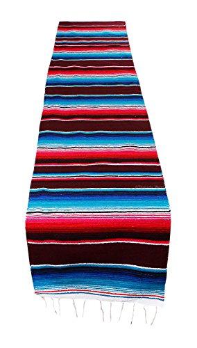 Mexican Table Runner Saltillo Serape Colorful Striped Sarape 83