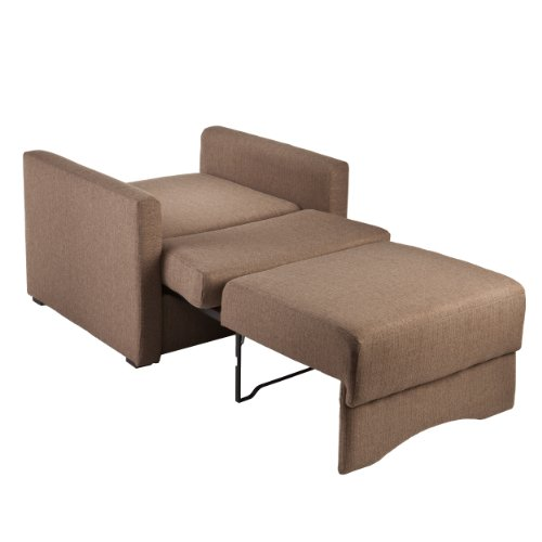 Southern Enterprises Tenbrook Upholstered Sleeper Chair with Storage, Brown