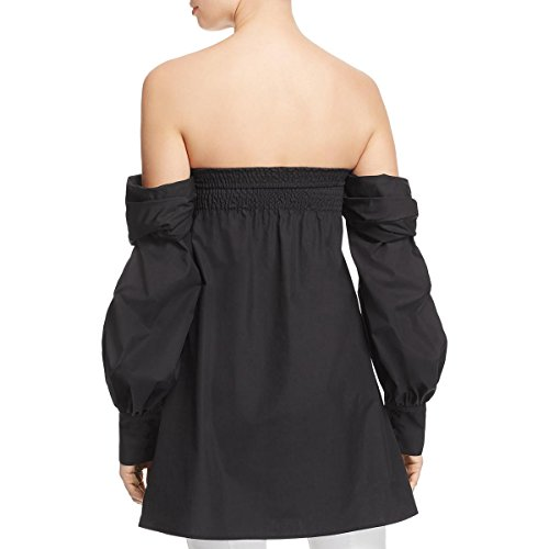 Petersyn Womens Trista Bandeau Top Front Cut Out Pullover Top Black M by Petersyn (Image #1)