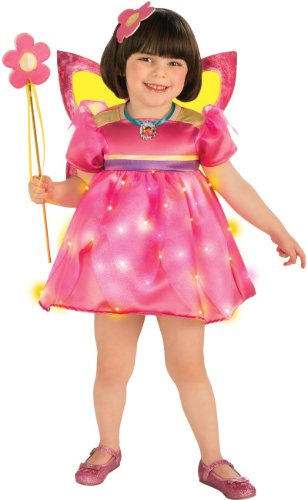Child Tinkerbell Fairy Princess Costumes - Rubies Dora The Explorer Light-Up Crystal Fairy Child Costume, Toddler (1 to 2 Years)
