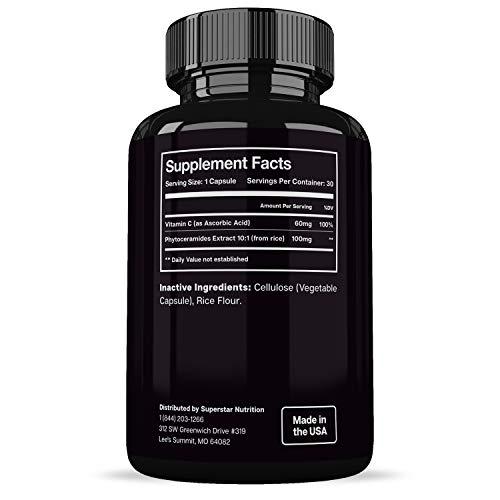 4190hCDIHRL - Best Phytoceramides Skin Supplement Vitamins for Women- Phytoceramide Anti Aging Supplements - Dry Skin Hydration Pills - Plant Derived Ceramide Capsules -30 Gluten Free Ceramides Supplements