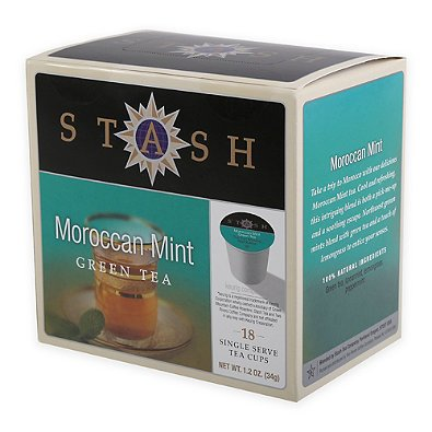 Keurig Pack 18-Count Stash Coffee Co. Moroccan Mint Green Tea by Stash Tea