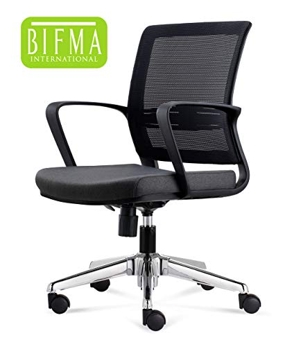 CHAIRLIN Office Chair Mesh Back Desk Chair Guest Chair Comfortable Computer Chair Black