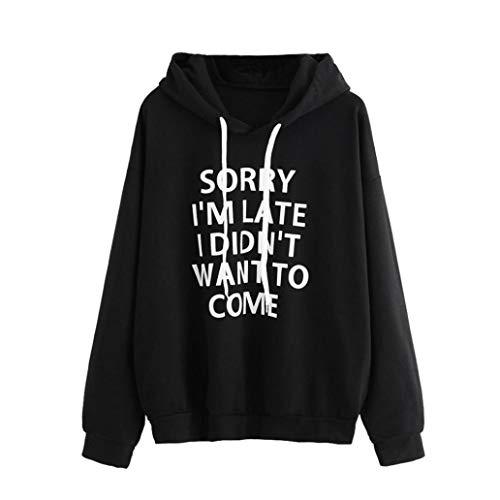 (Seaintheson Women Hoodie Top, Womens Letters Print Long Sleeve Shirt Sweatshirt Pullover Blouse)