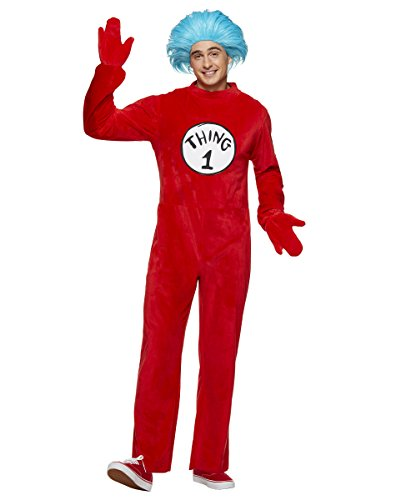 Thing 1 & 2 Costumes (Spirit Halloween Adult Thing 1 and 2 Costume - Dr. Seuss)