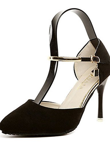 GGX/Damen Schuhe Fleece Sommer Heels Heels Casual Stiletto Heel andere schwarz/grau black-us5.5 / eu36 / uk3.5 / cn35