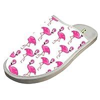 4B854DF6B Cotton Pink Flamingos Pattern House Slippers Baboosh Chinela Slipper