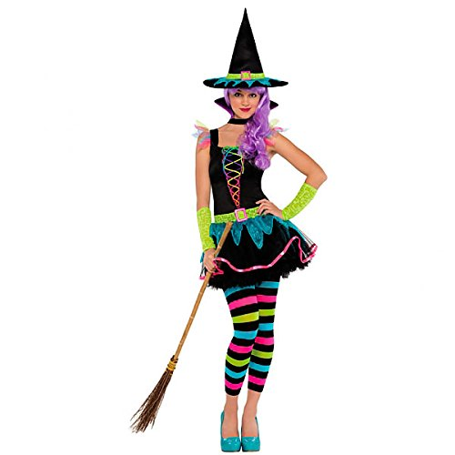 Child Witch Costume Neon (Christy's Teens Neon Witch Costume)