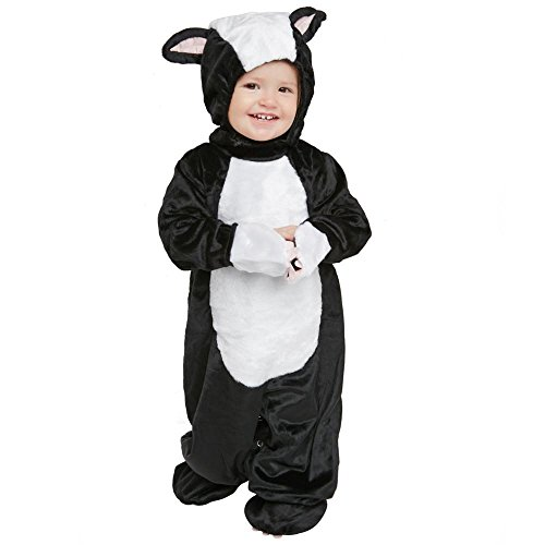 Baby Fluffy Skunk Costume, Size 2T - Little Skunk Toddler Costumes