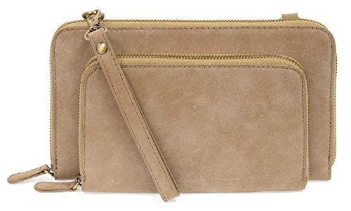 Joy Susan Brushed Mini Convertible Zip Around (One Size, Sand)