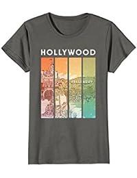 Retro Hollywood California Skyline Art Shirt : Souvenir Gift