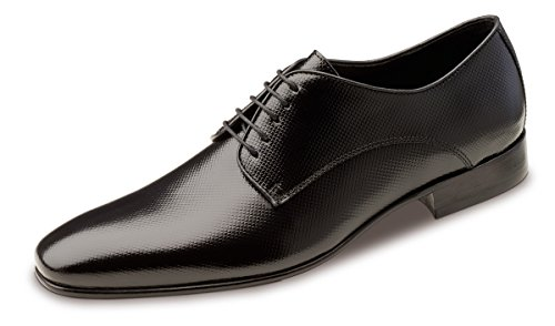 Wilvorst - zapatos con cordones de cuero hombre negro