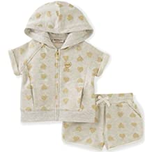 Juicy Couture girls Girls' 2 Piece Hooded Short Set