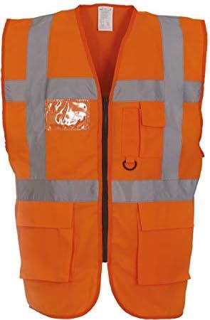 Hi-Vis Sicherheitsweste, Farbe:Hi Vis Orange;Größe:XL
