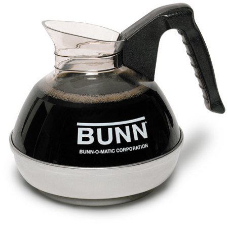 - BUNN Easy Pour Drip-Proof Fast-Pouring Lip Stainless Steel 12-Cup Commercial Decanter, Black - Regular, 6100.0101