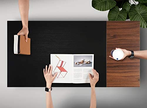 """Cubiker Computer Desk 55"""" Home Office Writing Study Laptop Table, Modern Simple Style Desk with Drawer, Black Espresso"""