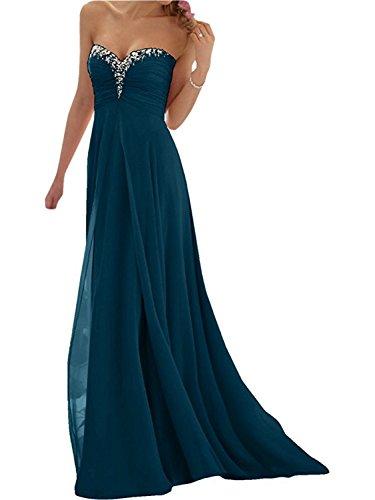 de Vestido A Fiesta la Vestido de Mujer Vestido Gasa Tirantes Dama Real de Pavo de Noche Sin Elegante de JAEDEN Honor Line Largo Partido Vestido wx4z70qXwH