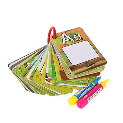 YENJO 26Pcs Infant Alphabets Numbers Painting Board Pen Drawing Card Educational Toys