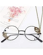 YUNGYE Steampunk Bril Frame Vrouwen Vintage Clear Lens Brillen Dames Lolita Versnellingen Ketting Decoratie Goud Spektakel Frames