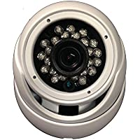 101AV Security Dome Camera 1080P 1920x1080 True Full-HD 4in1(HD-TVI, AHD, CVI, CVBS) 2.8mm Fixed Lens SONY 2.4 Megapixel STARVIS IR Indoor Outdoor Camera WDR DayNight HomeOffice 12VDC (White)