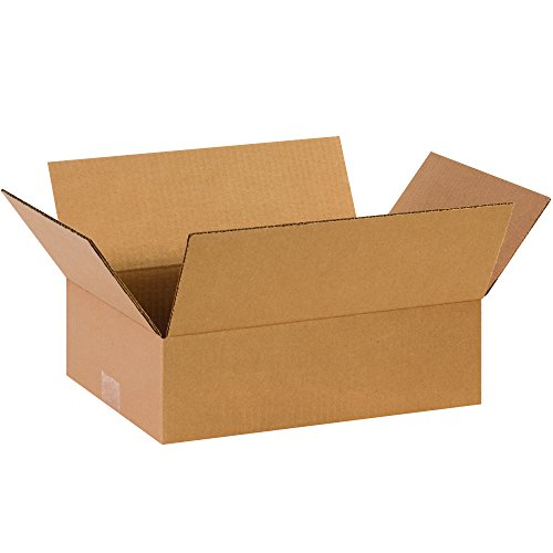 Partners Brand P14104 Flat Corrugated Boxes, 14
