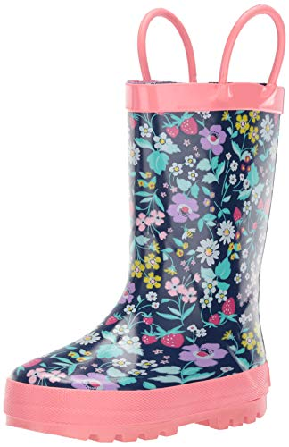 carter's Girl's Cleo Rubber Rainboot Rain Boot, Print, 8 M US Toddler