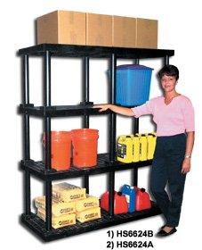 Dura Shelf Shelving - DURASHELF® 2-Shelf Unit 96