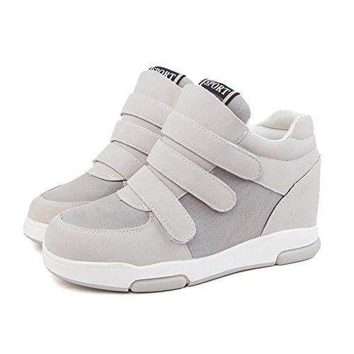 Women's Hidden Heel Velcro Athletic Walking Sneaker Boots Wedge Casual High Top