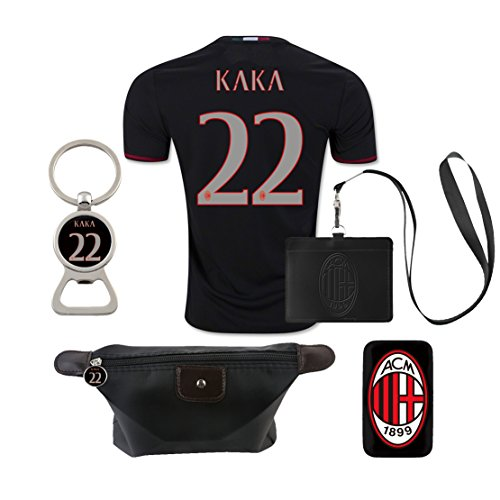 #22 Kaka (6 in 1 Combo) A.C. Milan Home Match Adult Soccer Jersey -