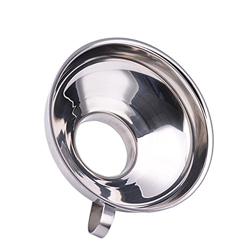 Stainless Steel Canning Funnel, Wide Mouth Jar Funnel With Handle for Wide and Regular Mouth Jars, Food Grade Metal Jam Funnel, 5.5-Inch Large Kitchen Funnels by HOXHA by HOXHA (Image #2)