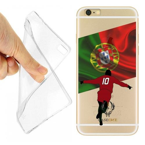 Caseone linea top CUSTODIA COVER CASE CALCIATORE PORTOGALLO PER IPHONE 6 TRASPARENTE