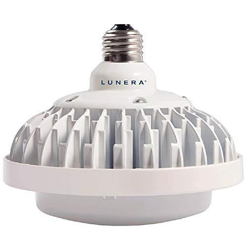 6000 Lumens - 50 Watt - LED HID Retrofit 175W Metal Halide Equal - 3500 Kelvin - Medium Base - Vertical Mount - Operates on Existing Metal Halide Ballast - Lunera SN-V-E26-175W/100W/70W-3500