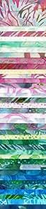 Bali Batiks Bali Pop 8th Generation Chintz 40 2.5-inch Strips Jelly Roll Hoffman Fabrics BP-616-Chintz by Hoffman Fabrics